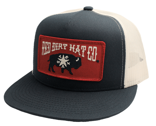 """RED DIRT HAT CO """"REPUBLIC OF TEXAS"""" NAVY/WHITE CAP"""