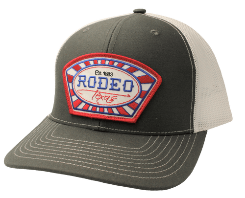 """RED DIRT HAT CO """"RODEO TEXAS"""" CHARCOAL/WHITE CAP"""