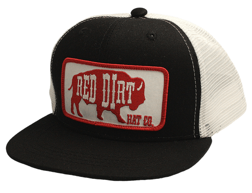 "RED DIRT HAT CO ""RED ORIGINAL"" YOUTH BLACK/WHITE"
