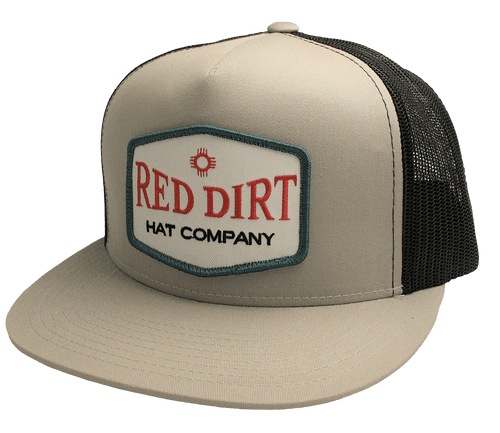 """RED DIRT HAT CO """"PUNCHY"""" SILVER/ BLACK CAP"""