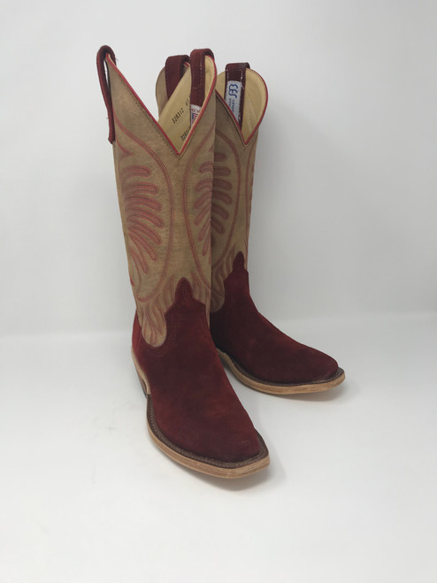 ANDERSON BEAN WOMEN'S HOT RED WAXY KUDU/ TAN AGED