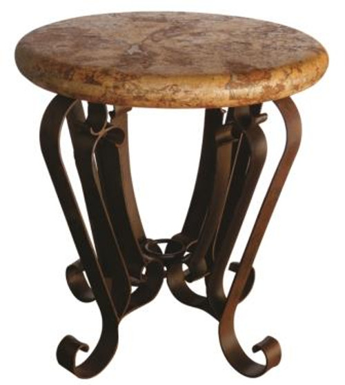 ROUND MARBLE SMALL OCCASIONAL TABLE