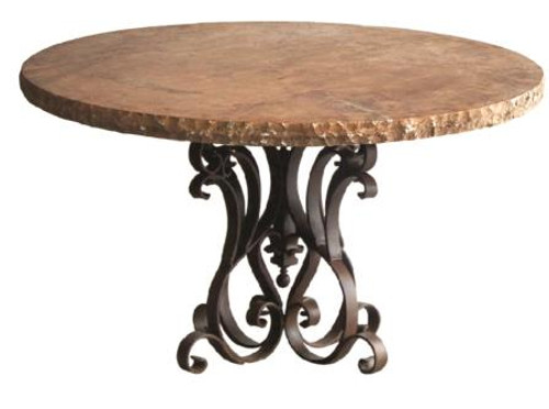 ROUND IRON MARBLE TOP DINETTE
