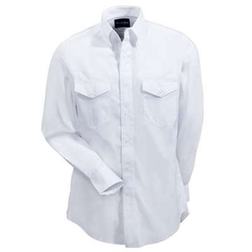 MEN'S WRANGLER PAINTED DESERT SOLID TWILL WESTERN SHIRT - SOLID WHITE