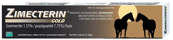 ZIMECTERIN GOLD PASTE HORSE WORMER