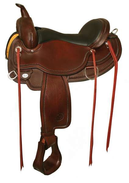 "CIRCLE Y ""OMAHA FLEX 2"" TRAIL SADDLE - SEAT 17"""