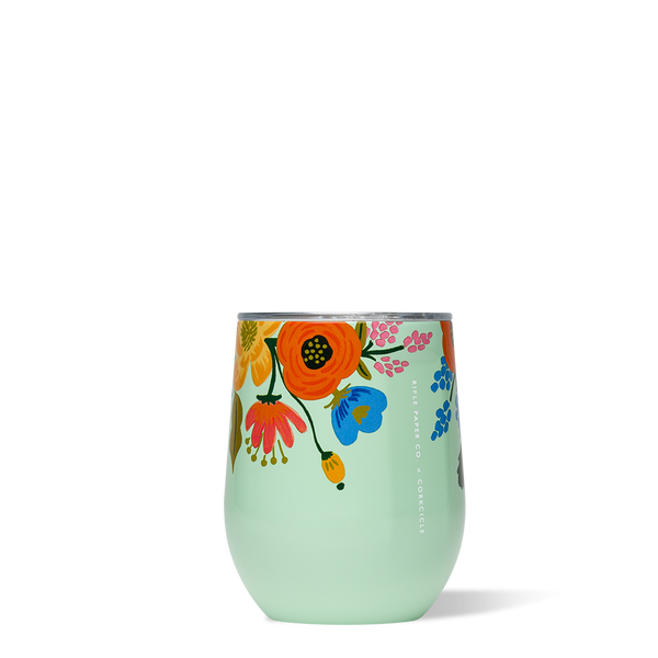 CORKCICLE STEMLESS WINE GLASS LIVELY FLORAL