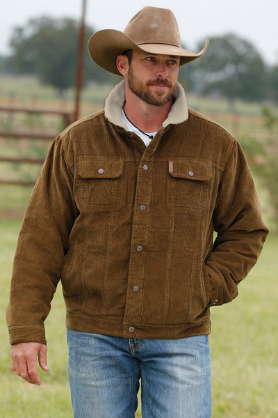 CINCH MEN'S RUSSET CORDUROY JACKET W/SHERPA LINING