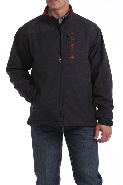 CINCH MEN'S BLACK/RED CONCEALED CARRY BONDED JACKET