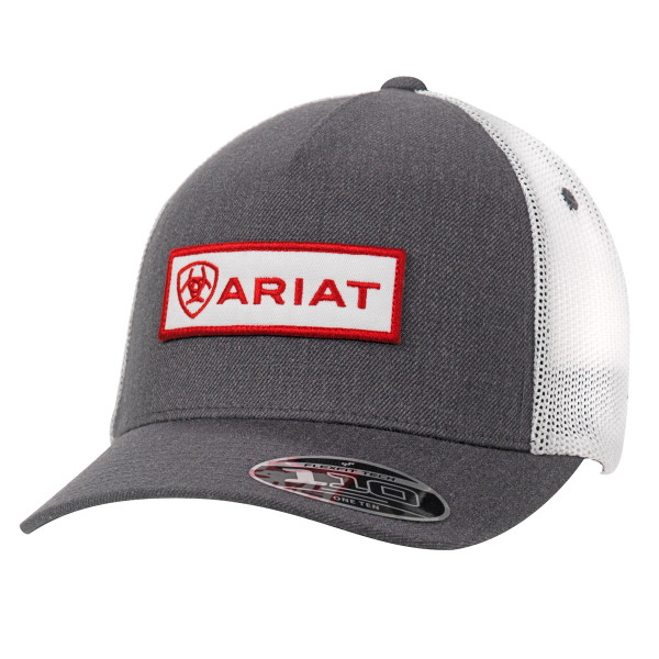 ARIAT GRY/RED/WHITE  PATCH SNAPBACK