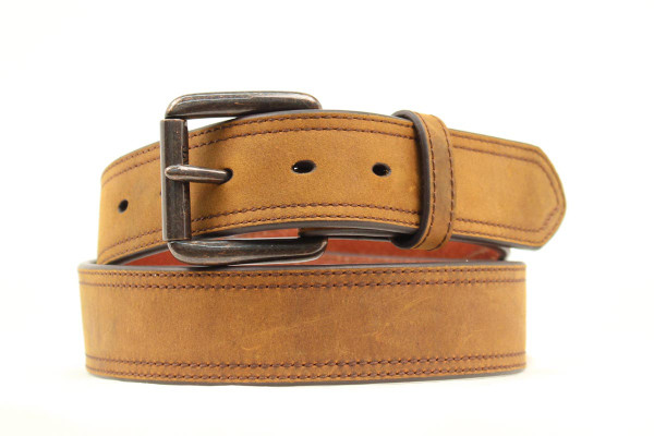 ARIAT MENS DISTRESSED LEATHER BROWN BELT