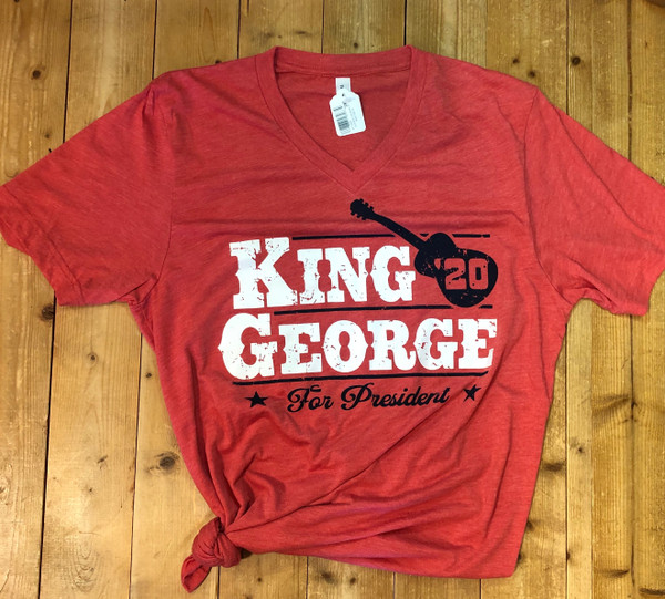 KING GEORGE FOR PRESIDENT '20 HEATHER RED