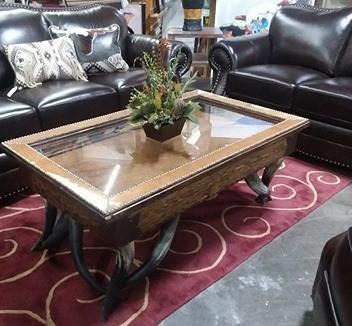 Enjoyable Shadow Box Coffee Table W Cowhide Lining Horn Legs Cjindustries Chair Design For Home Cjindustriesco