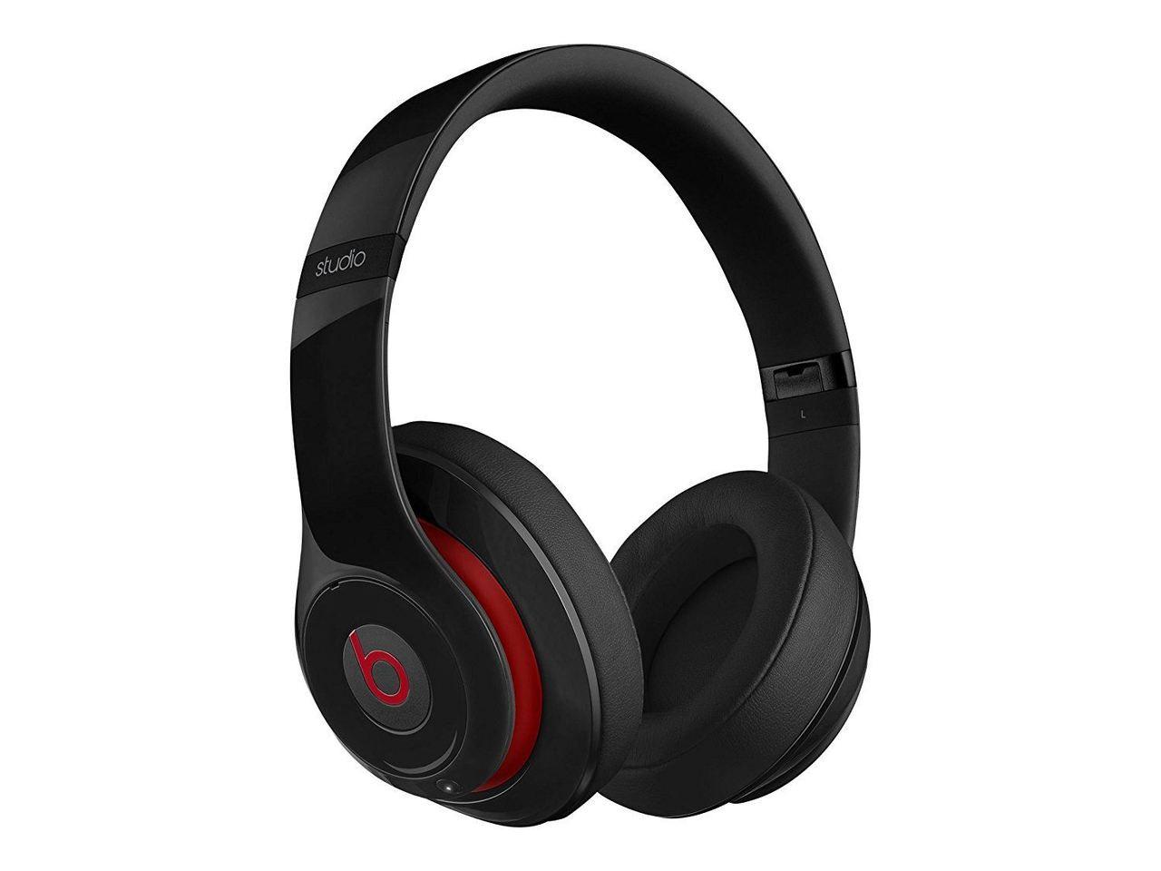 c74026475b8 Beats by Dre Studio 2.0 Over-Ear Wireless Bluetooth Headphones Gloss Black/ Red
