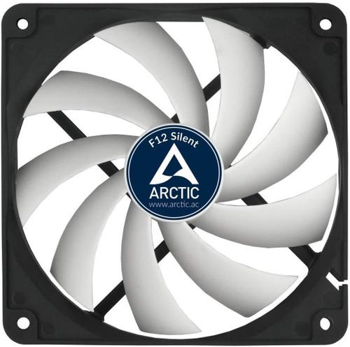 Arctic F12 Silent Ultra-Quiet 120 mm Case Fan Speed: 800 RPM, Black/White