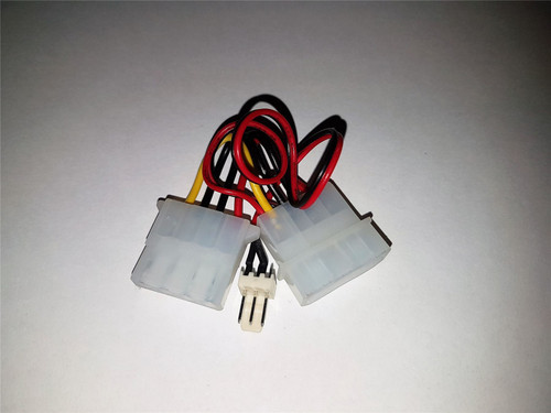 Computer Fan Power Adapter Cable 4 pin LP4 Molex Female to 3 pin Fan