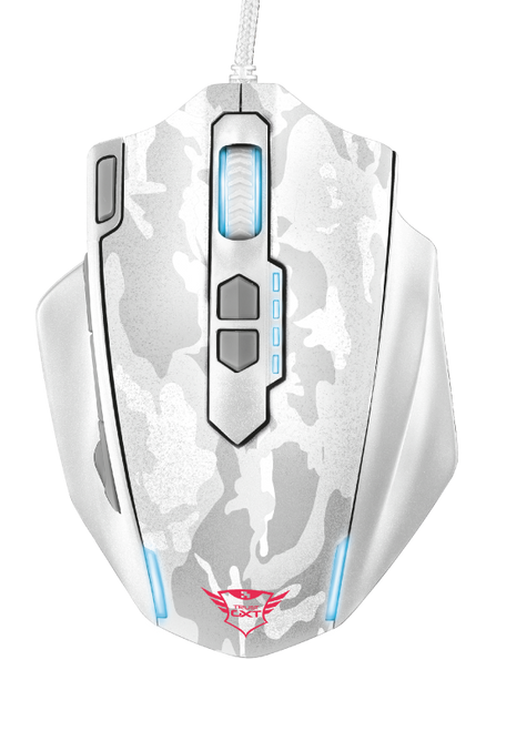 Trust Gaming GXT 155W, 11 Buttons, Wired Gaming Mouse - White Camoflage