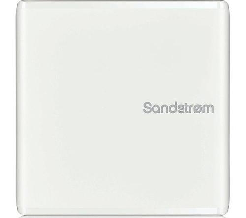 SANDSTROM External DVD Reader/Writer, USB 2.0, White