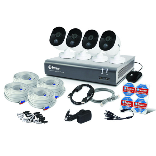 Swann DVR8-4580 Motion-Sensing 8 Channel 1TB CCTV Kit with 4x 1080p Cameras