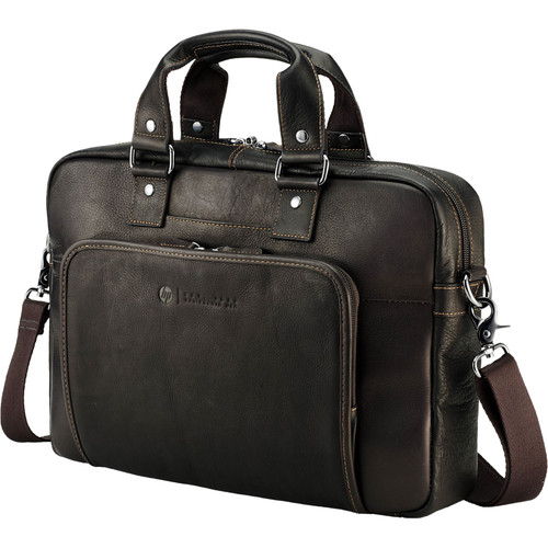 """HP Elite Top Load Colombian 14"""" Leather Notebook/Laptop Bag/Case"""