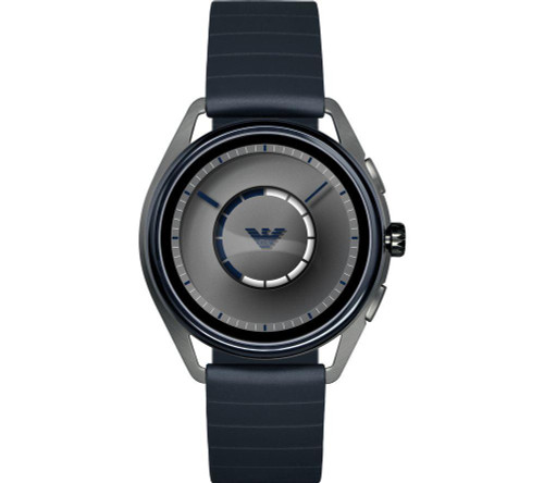 Emporio Armani ART500 Touchscreen Smart Watch, Gunmetal/Blue