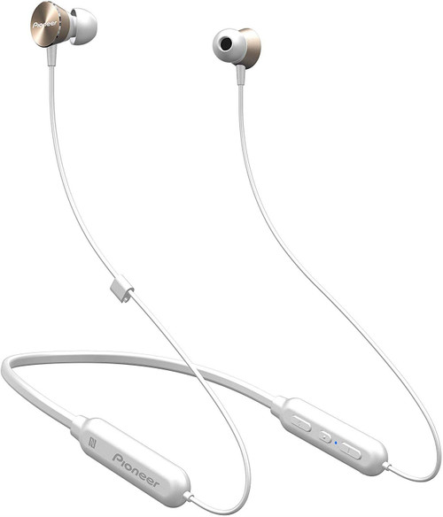 Pioneer Bluetooth In Ear Neckband Headphones With Mic - Gold