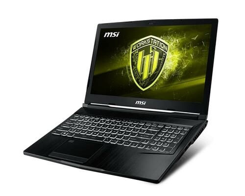 "MSI WE63, i7 8750H, 8GB RAM, 1TB HDD NVIDIA Quadro P1000 W10 Pro 15.6"" Laptop"