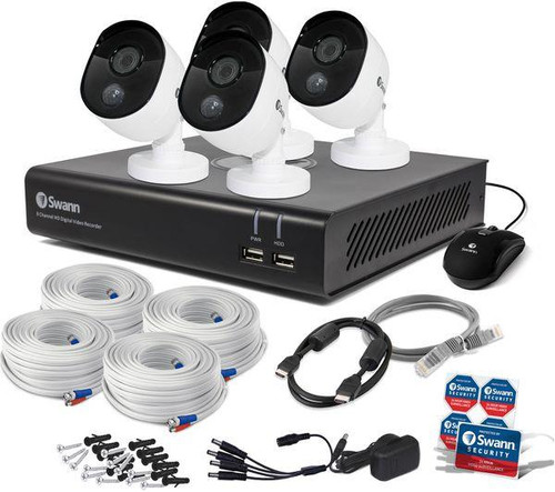 Swann 8-Channel, FHD (1080p), 32GB, Smart Security CCTV System+ 4 Cameras