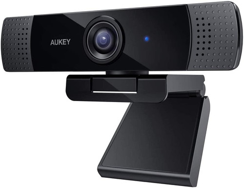 Aukey Full HD (1080p) Webcam For Video Chat With Stereo Microphone - Black - USB