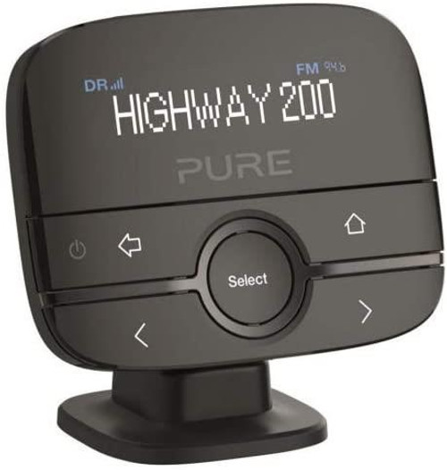 Pure Highway 200 In-Car DAB+/DAB Digital Radio FM Adapter/Transmitter with AUX