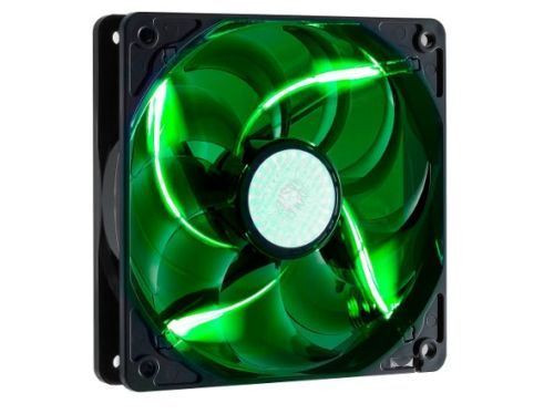 CoolerMaster SickleFlow 120mm Silent Green LED PC Case Cooling Fan