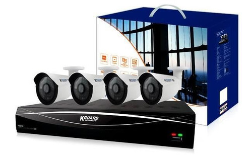 KGUARD 4 Channel HD 1TB Hybrid CCTV AHD DVR Kit with 4 x 720P Cameras