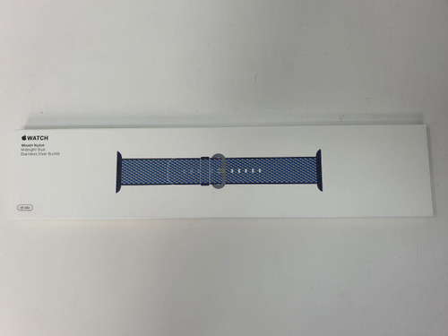 Apple MQVC2ZM/A Watch Band 38MM Midnight Blue Check Woven Nylon