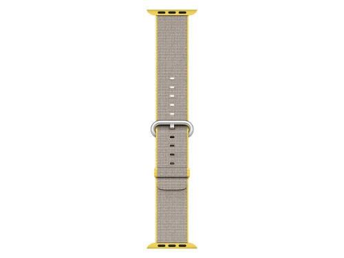 Apple Watch Strap Band 38mm Yellow Woven Nylon