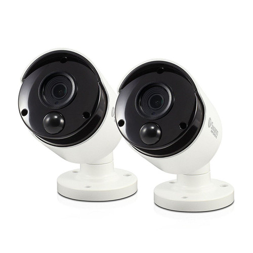 Swann Thermal Sensing PIR Security Cameras 5MP Super HD Bullet CCTV 2 Pack