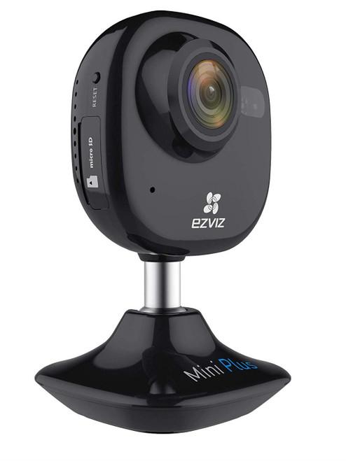 EZVIZ Mini Plus Black 1080p WiFi Smart Home Security Camera, Works with Alexa
