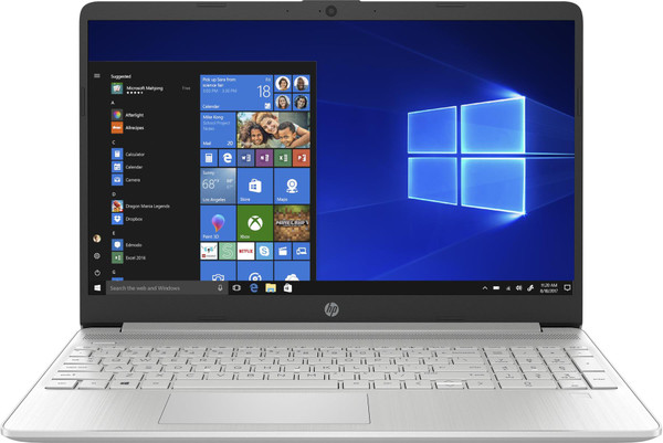 "HP Slim 15s-fq1006na, Intel Core i7 1065G7, 8GB, 512GB, 15.6"" Laptop - Silver"