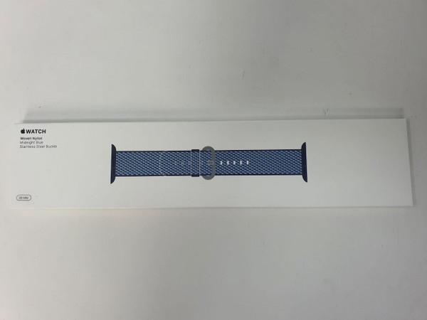 Apple MQVC2ZM/A Watch Band 38MM Midnight Blue Check Woven Nylon