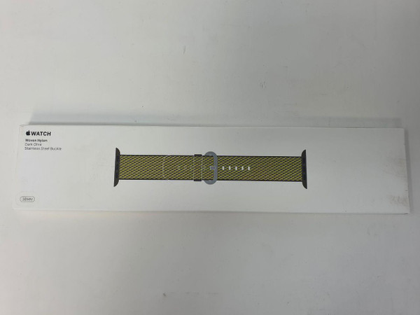 Apple MQVF2ZM/A Band Olive Nylon 38mm Dark Check Woven