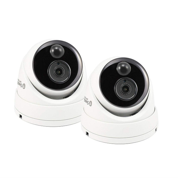 Swann Thermal Sensing PIR Security Cameras 5MP Super HD Domes CCTV 2 Pack