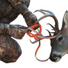 Cinch down deer handle to secure to antlers, legs, neck, head or any other body part to pull or drag.