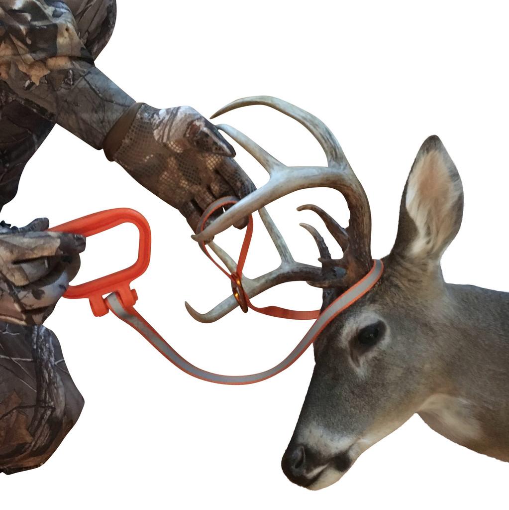 Slip plastic deer handle through loop
