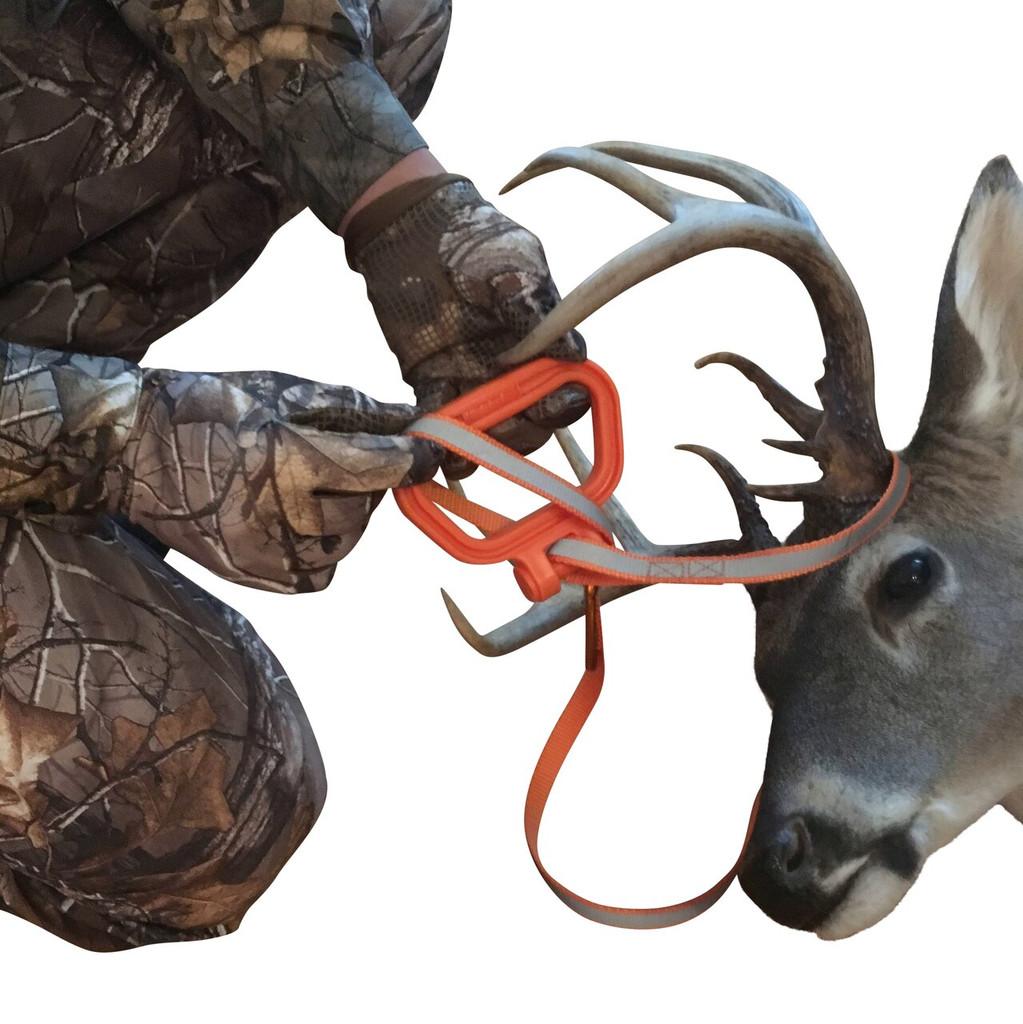 Deer Drag pass handle thru loop to cinch down for pulling
