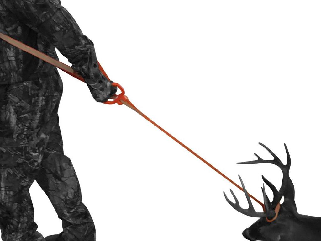 deer drag harness, deer handle, deer drag, deer drag and harness, 5 ways to handle a deer in one product, deer dragging harness, better pulling power and control