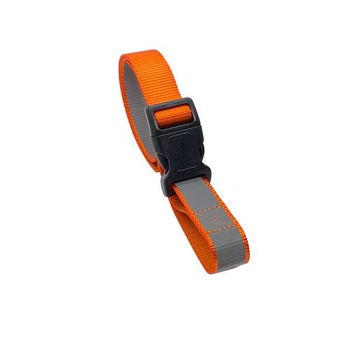 1 Foot Reflective Orange Organizer Strap with Buckle Slide