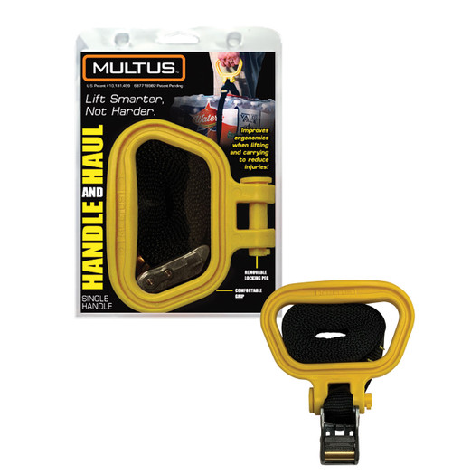 Handle and Haul Single Handle Moving Strap in Yellow
