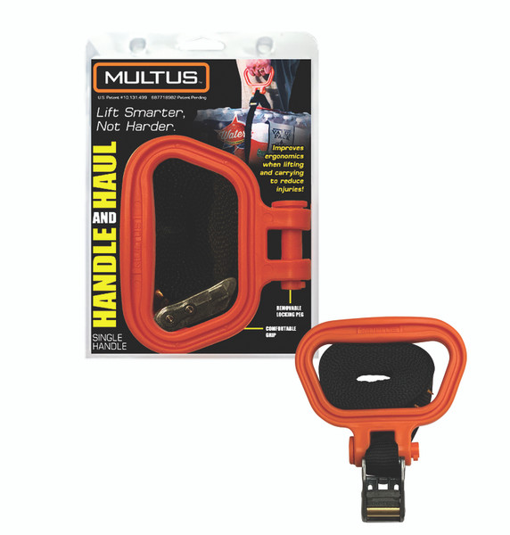 Handle and Haul Single Handle Moving Strap - Orange