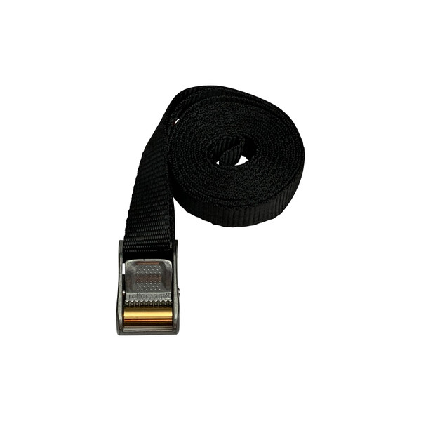 Roller Cam Buckle with 9 Foot Black Polyester Strap