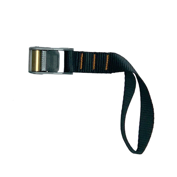 Roller Cam Buckle with 1 Foot Loop Polyester Black Strap