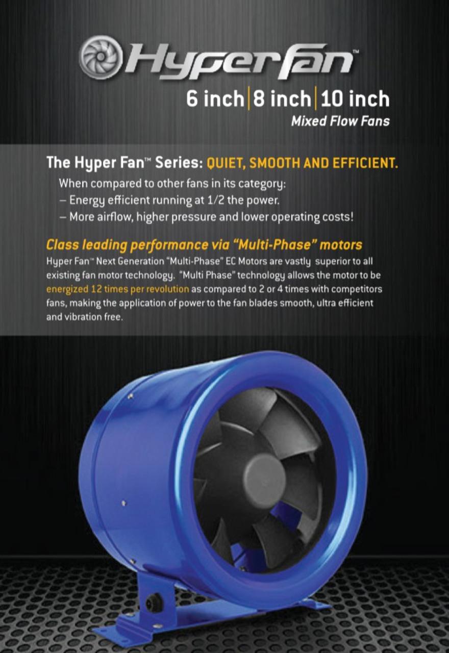 HyperFan 150mm Silencer Fan